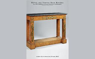 Vente aux enchères du samedi 24 et dimanche 25 Mars 2012